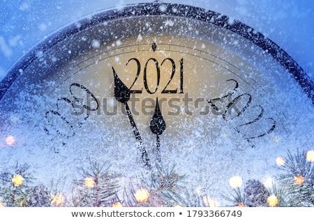 Północ 12 twarz podpisania czasu oglądać Zdjęcia stock © winnond