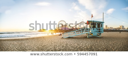 サンタクロース ビーチ 桟橋 晴れた 冬 日 ストックフォト © jsnover