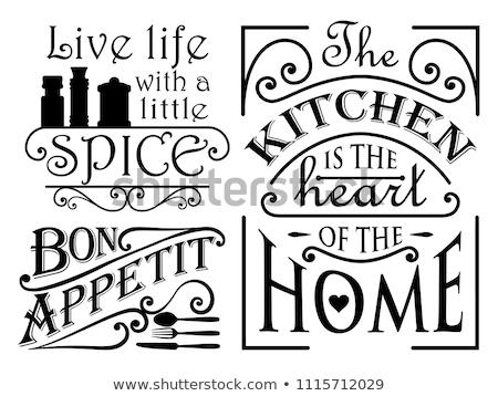 Szett klasszikus grafikus tipográfia fal dekoráció Stock fotó © FoxysGraphic