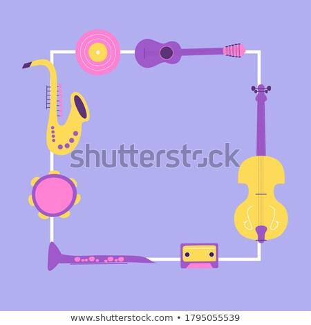 Cartoon · garabatos · musical · ilustración · colorido · detallado - foto stock © balabolka