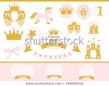 Crown and Carriage, Happy Birthday Princess Vector Stock photo © robuart