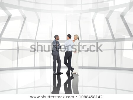 Group of business people with transition background Stock photo © wavebreak_media