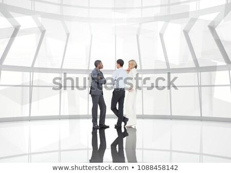 csoport · üzletemberek · átalakulás · digitális · kompozit · égbolt · kéz - stock fotó © wavebreak_media