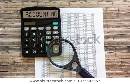 A calculator with the word Credit on the display Stock photo © Zerbor