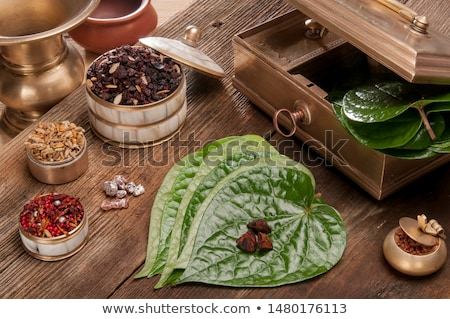 Decorated edible betel leaves Stock photo © bdspn