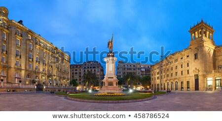 Испания квадратный здании путешествия каменные статуя Сток-фото © borisb17