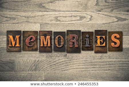 Geest vintage houten type woord Stockfoto © enterlinedesign
