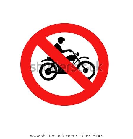 Não motocicleta proibido assinar branco isolado Foto stock © evgeny89