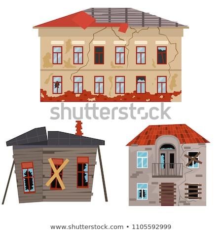 Gebroken huis gebouw collectie vector Stockfoto © pikepicture