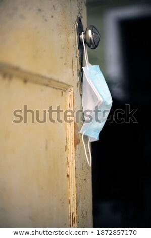 Máscara cirúrgica enforcamento azul moderno Foto stock © nito