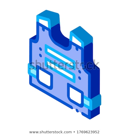Police Body Safe Armor isometric icon vector illustration Stock photo © pikepicture