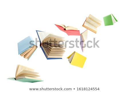 Flying · книгах · открытых · темно · синий · Sunshine - Сток-фото © get4net