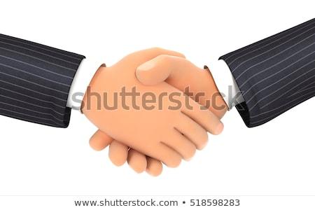 dwa · biznesmenów · drżenie · rąk · finansowych · działalności · biznesmen - zdjęcia stock © dacasdo