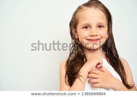 Säugling · Zähne · junge · Mädchen · Porträt - stock foto © antartis