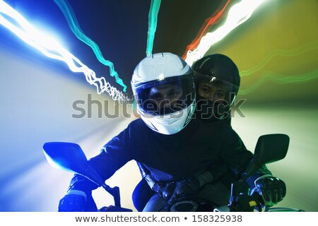 couple of bikers with crash helmet stock photo © photography33