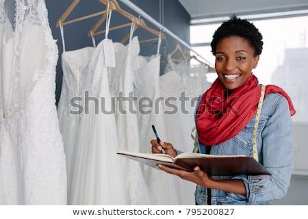 Vrouwelijke ondernemer plannen vrouw gelukkig Stockfoto © photography33