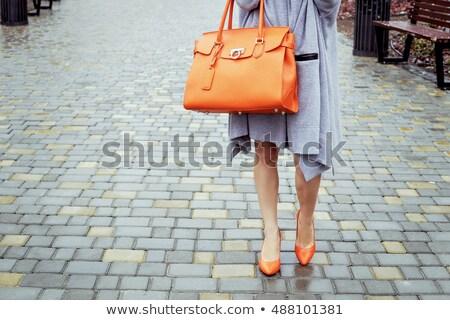 Schoonheid vrouw trottoir straat volwassen mooie vrouw Stockfoto © fotorobs