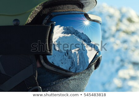 Closeup of a man in ski goggles Stock photo © photography33