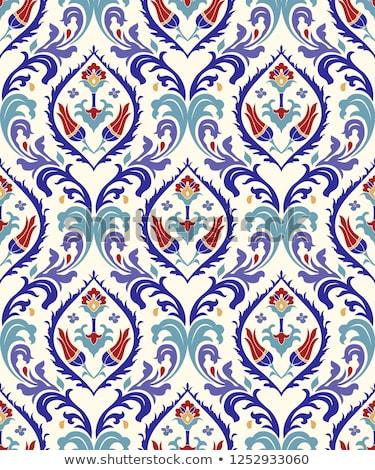 Naadloos damast behang abstract textuur blad Stockfoto © SelenaMay