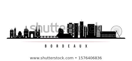 Bordeau városkép kilátás kerület Franciaország város Stock fotó © smithore