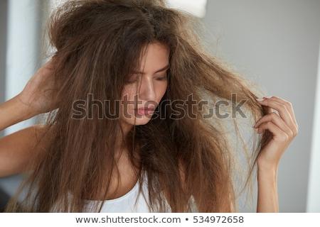 woman drying hair stock photo © photography33