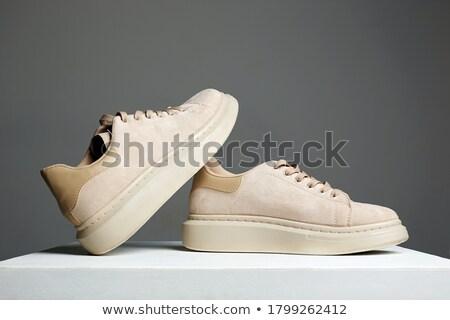 Scarpa foto rosolare bianco moda Foto d'archivio © Ronen