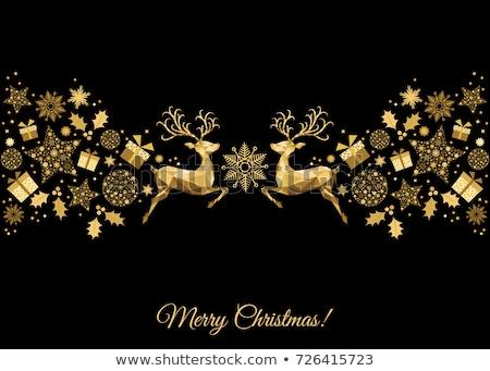 золото орнамент филиала дерево праздник Сток-фото © macropixel