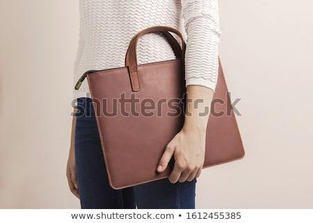 pánt · barna · bőr · fehér · biztonság · szín - stock fotó © taigi
