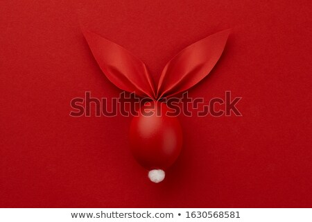 easter bunny and red background Stock photo © djdarkflower
