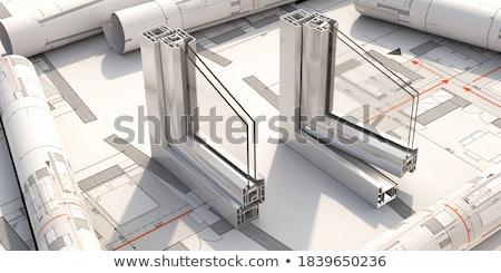 Foto stock: Janela · perfil · seção · windows · dobrar