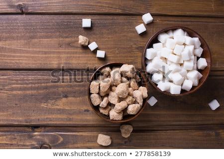 Sugar lumps and text Stock photo © deyangeorgiev