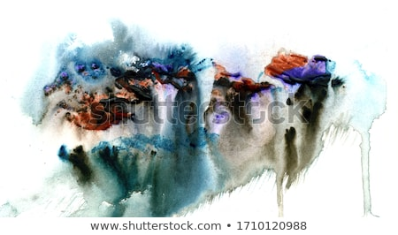Beautiful grunge blue background with paint smears in watercolor Stock photo © jarenwicklund