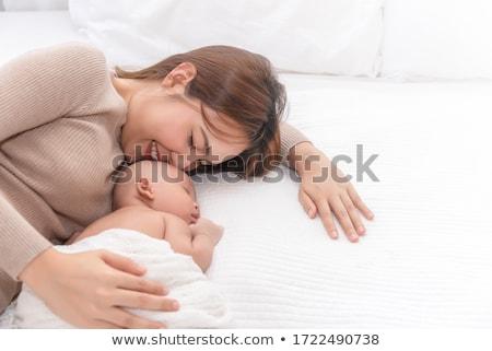 Retrato belo hispânico feliz mãe bebê Foto stock © dacasdo