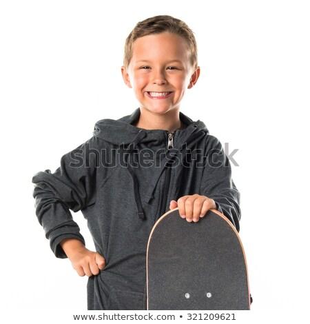 Portret aantrekkelijk lachend glimlachend jongen geïsoleerd Stockfoto © meinzahn