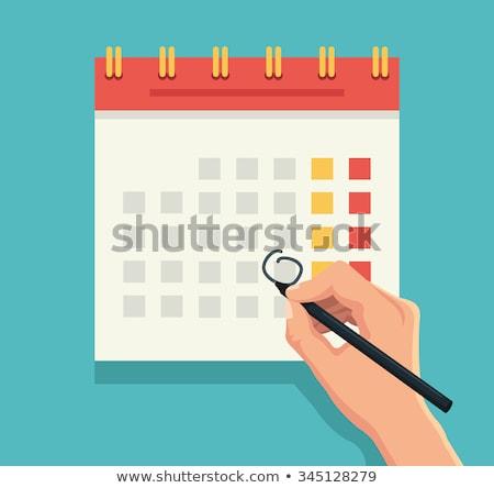 Pen on Calendar stock photo © tainasohlman