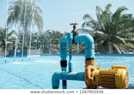 Su pompa park Metal çim küçük Stok fotoğraf © rglinsky77