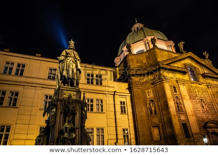 Photo of the historical statue of Karel Charles IV  Stock photo © artush