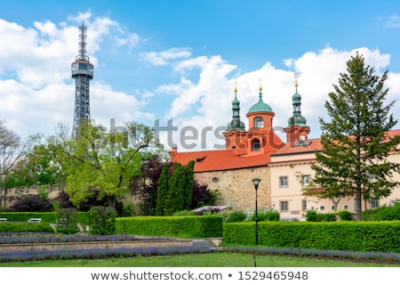 Famous lookout tower and church of St.Lawrence on the Petrin Hil Stock photo © CaptureLight