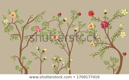 Absztrakt régi tapéta virág textúra természet terv Stock fotó © Nejron