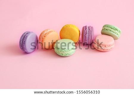 Macaron ingredientes comida espaço ovos prato Foto stock © Dar1930
