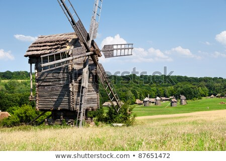 wooden mill outside Stock photo © Kayco