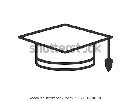 vector illustration graduate hat template graphic or website layout stock photo © littlecuckoo