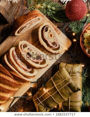 bread with ham stock photo © M-studio