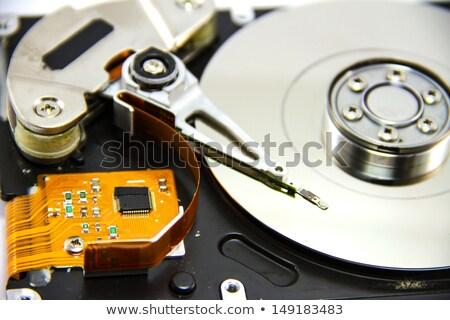 Harde schijf computer technologie veiligheid groene Stockfoto © kubais