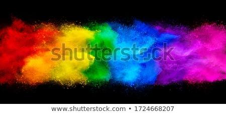 Colorato polvere isolato nero abstract esplosione Foto d'archivio © Nejron