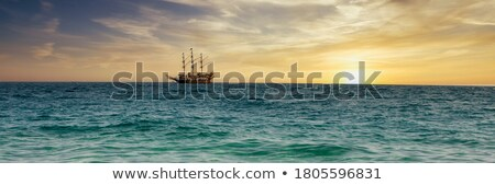 парусника · парусного · синий · морем · Солнечный · лет - Сток-фото © smithore