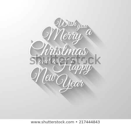 merry christmas card with long shadow stock photo © michalsochor