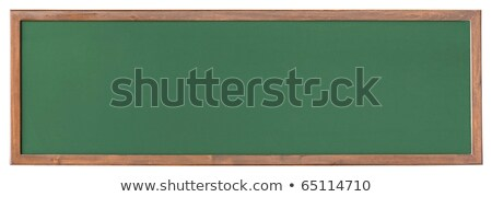 Wide green  blackboard cutout stock photo © DragonEye