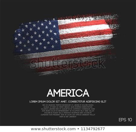 Flag of USA made of sparkles on black Stock photo © vlad_star
