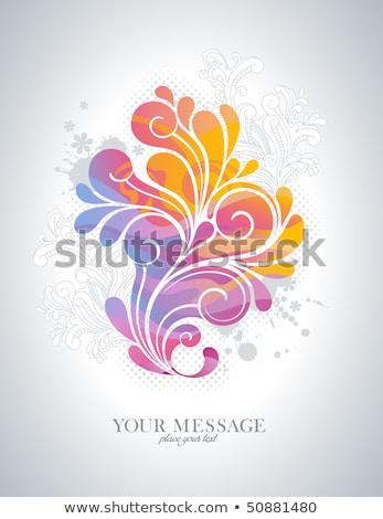 rainbow colored floral design element stock photo © shawlinmohd